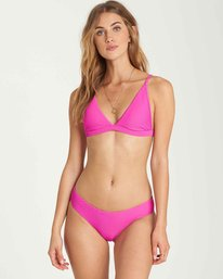 1 Tanlines Hi-Point Tri Bikini Top Pink XT12QBTA Billabong