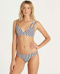 1 Get In Line Banded Tri Bikini Top  XT17NBGE Billabong