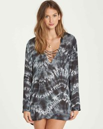 0 Same Story Hooded Cover Up Black XV02NBSA Billabong
