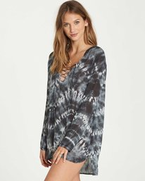 1 Same Story Hooded Cover Up Black XV02NBSA Billabong