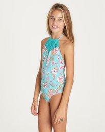 1 Girls' Blooming Beauty One Piece Swim Green Y102LBLO Billabong