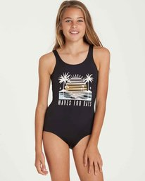 0 Girls' Waves For Days One Piece Swim Black Y102QBWA Billabong