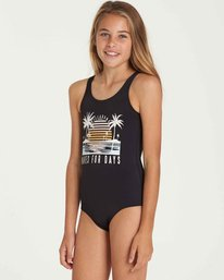 1 Girls' Waves For Days One Piece Swim Black Y102QBWA Billabong
