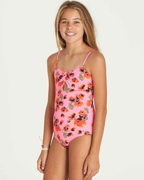 1 Girls' Bella Beach One Piece Swim Pink Y104PBBE Billabong