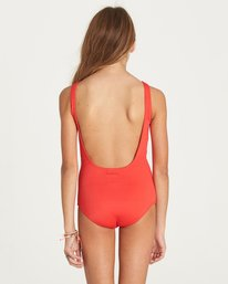 2 Girls' Sol Searcher One Piece Swimsuit Red Y107LSOL Billabong