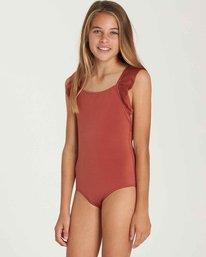 1 Girls' Shine One Piece Swim Brown Y108QBSH Billabong