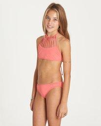 1 Girls' Sol Searcher High Neck Swim Set Pink Y202LSOL Billabong