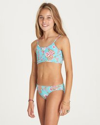1 Girls' Blooming Beauty Athena Swim Set Green Y203LBLO Billabong