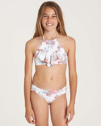 0 Girls' Nova Floral High Neck Swim Set Yellow Y209NBNO Billabong