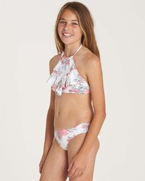 1 Girls' Nova Floral High Neck Swim Set Yellow Y209NBNO Billabong