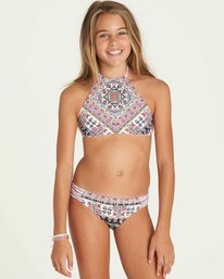 0 Girls' Moon Tribe High Neck Swim Set  Y210PBMO Billabong