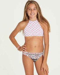4 Girls' Moon Tribe High Neck Swim Set  Y210PBMO Billabong