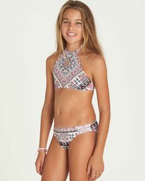 1 Girls' Moon Tribe High Neck Swim Set  Y210PBMO Billabong