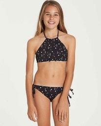 4 Girls' Sundial Reversible High Neck Swim Set  Y210QBSU Billabong
