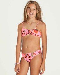 1 Girls' Bella Beach Bandeau Swim Set Pink Y212PBBE Billabong
