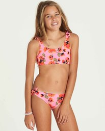 0 Girls' Bella Beach Tank Swim Set Pink Y213PBBE Billabong