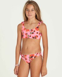 1 Girls' Bella Beach Tank Swim Set Pink Y213PBBE Billabong
