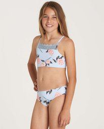 1 Girls' Petal Daze Crop Tank Swim Set Blue Y215NBPE Billabong