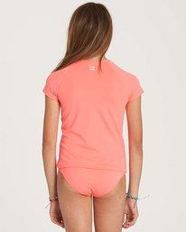 2 Girls' Stay Salty Short Sleeve Rashguard Pink YR01NBSO Billabong