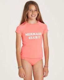 0 Girls' Stay Salty Short Sleeve Rashguard Pink YR01NBSO Billabong