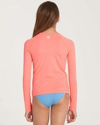 2 Girls' Sol Searcher Long Sleeve Rashguard Pink YR02NBSO Billabong