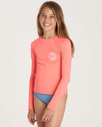 1 Girls' Sol Searcher Long Sleeve Rashguard Pink YR02NBSO Billabong