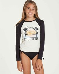 0 Girls' Waves For Days Long Sleeve Rashguard Black YR03QBWA Billabong