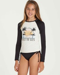 1 Girls' Waves For Days Long Sleeve Rashguard Black YR03QBWA Billabong