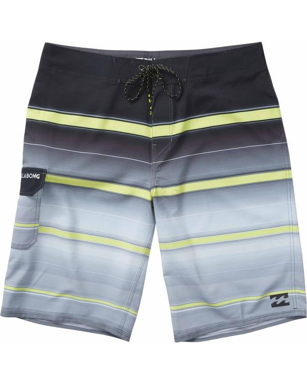 0 Boys' All Day X Stripe Boardshorts Grey B108JASX Billabong