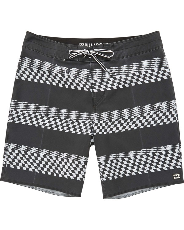 0 Boys' Sunday X Stripe Boardshorts Black B123QNSS Billabong
