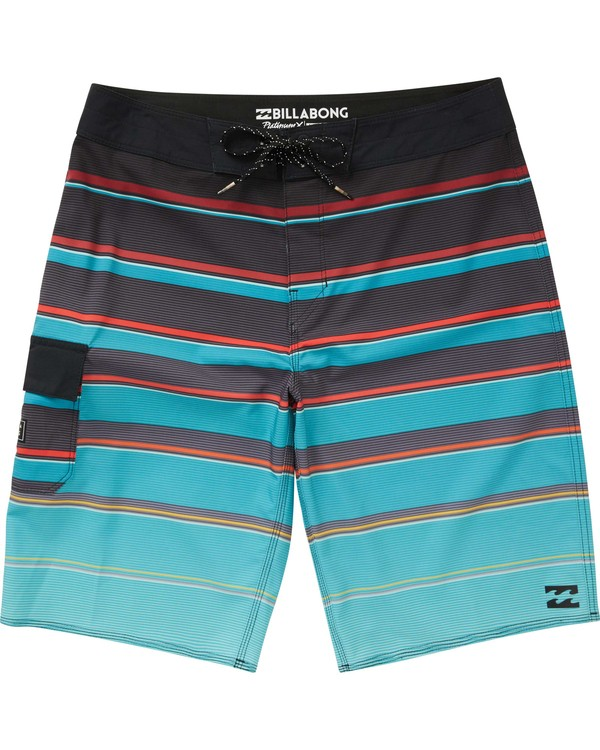 0 Boys' All Day X Stripe Boardshorts Blue B125NBAS Billabong