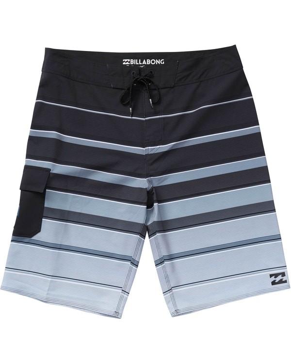 0 Boys' All Day X Stripe Boardshorts Black B125NBAS Billabong