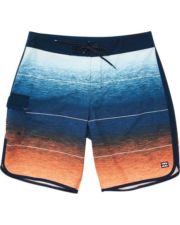 0 Boys' 73 Stripe Pro Boardshorts Orange B127TBST Billabong