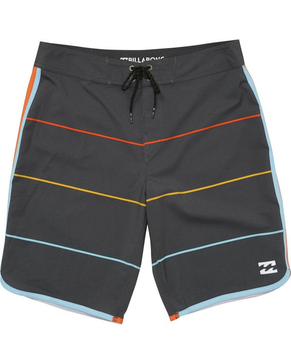 0 Boys' 73 X Stripe Boardshorts Grey B138LSTX Billabong