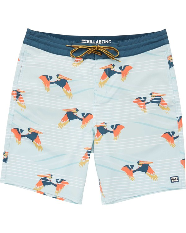 0 Boys' Sundays Lo Tides Boardshorts Blue B142NBSU Billabong