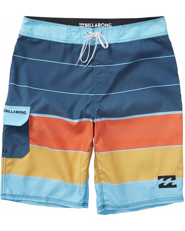0 Boys' All Day OG Stripe Boardshorts Purple B160LASO Billabong
