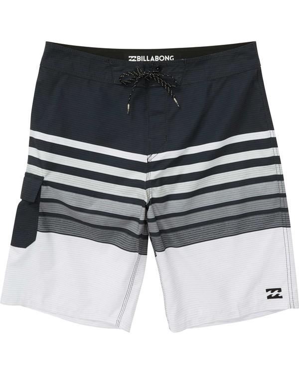0 Boys' All Day OG Stripe Boardshorts Black B165NBAS Billabong
