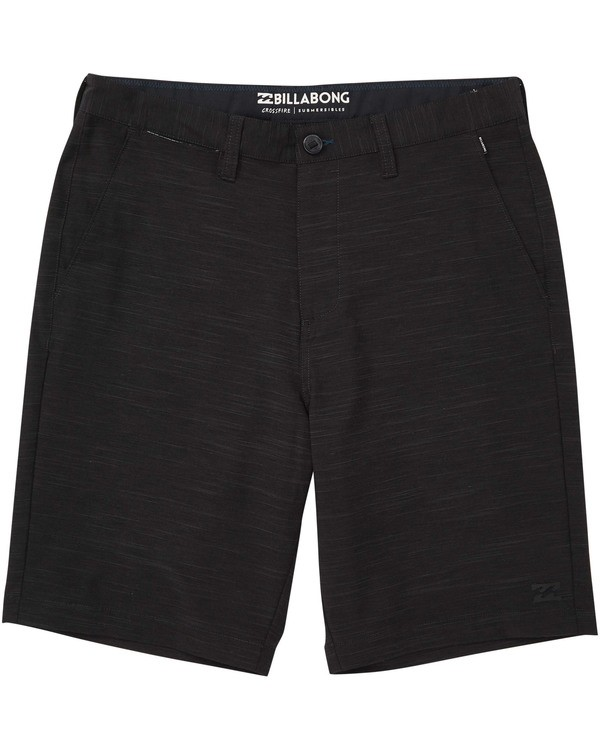 0 Boys' Crossfire X Slub Shorts Black B203NBCS Billabong