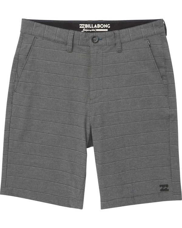 0 Boys' Crossfire X Stripe Shorts Black B205NBCS Billabong