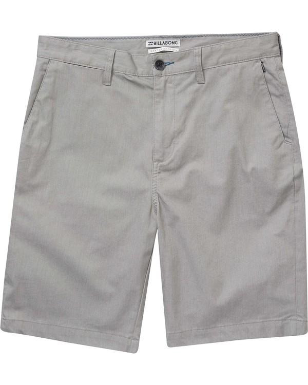0 Boys' Carter Stretch Shorts Grey B231NBCS Billabong