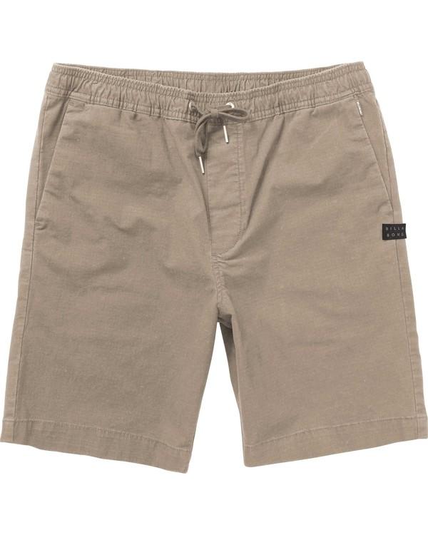 0 Boys' Larry Layback Shorts Green B235PBLA Billabong