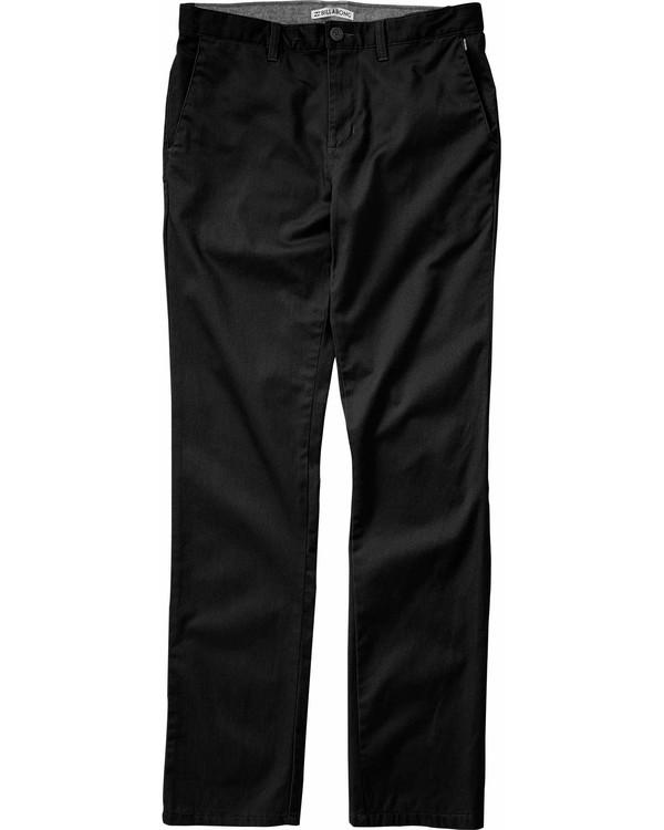 0 Boys' Carter Stretch Chino Pant Black B311LCAS Billabong