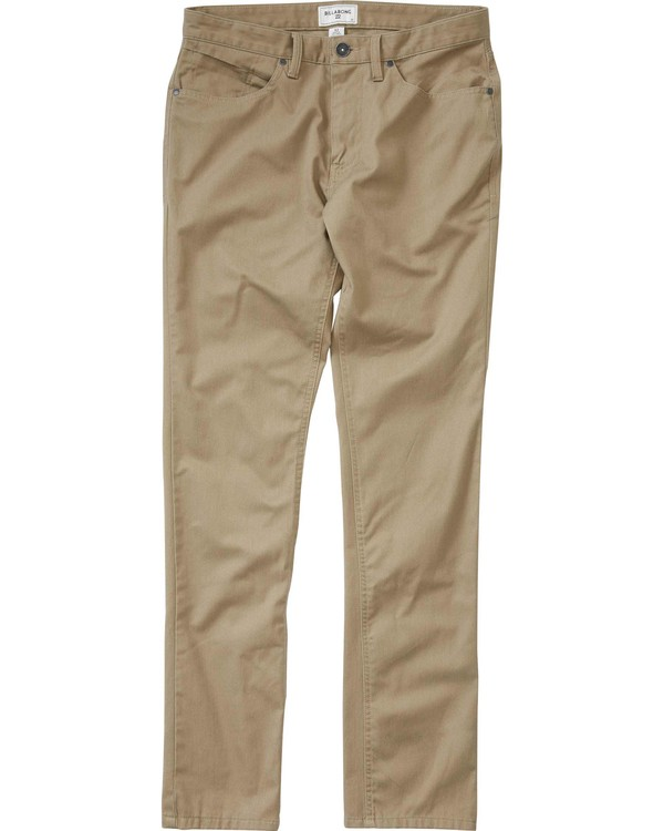 0 Boys' Carter Stretch Chino Pant Green B311LCAS Billabong