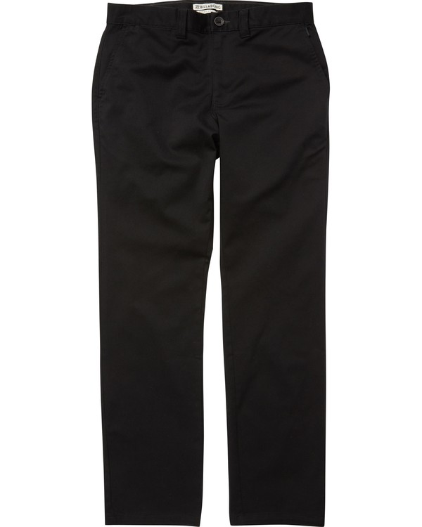 0 Boys' Carter Stretch Chino Pants Black B314QBCS Billabong
