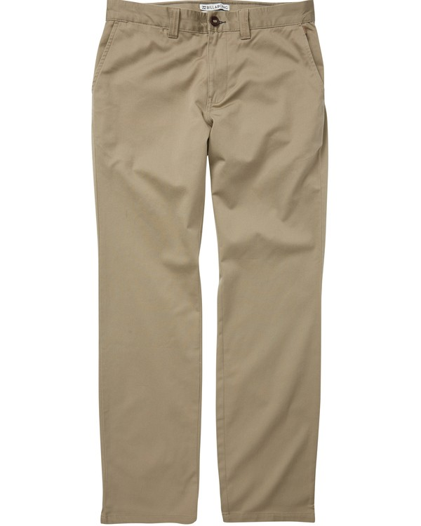 0 Boys' Carter Stretch Chino Pants Green B314QBCS Billabong