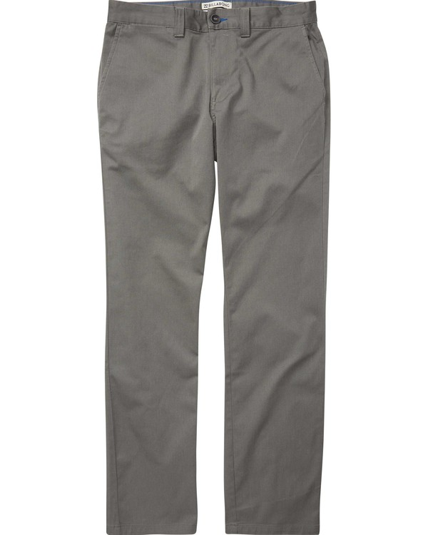 0 Boys' Carter Stretch Chino Pants Grey B314QBCS Billabong