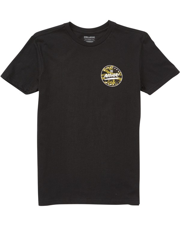 0 Boys' Hi Aloha Tee Black B401NBAO Billabong