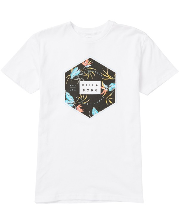 0 Boys' Access Fill Tee Shirt White B401SBAF Billabong