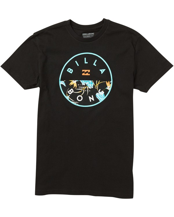 0 Boys' Rotor Fill Tee Shirt Black B401SBRO Billabong