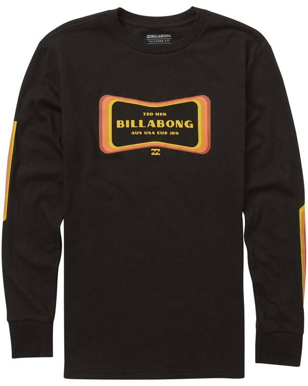 0 Boys' Pulse Long Sleeve Tee Black B405QBPU Billabong